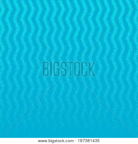 Stipple dots effect abstract background. Halftone pattern. Sea marina turquoise colors. Wave zigzag texture.