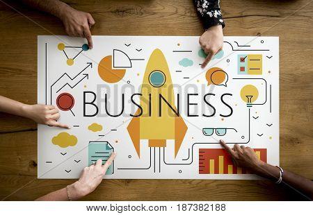 Business Objectives Goals Progress Improvement Concept