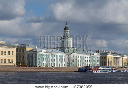 09.05.2017.Russia.Saint-Petersburg.The famous city Museum Kunst-camera.Founded by Peter the great.