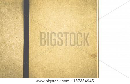 Old brown paper texture background close up Top view.