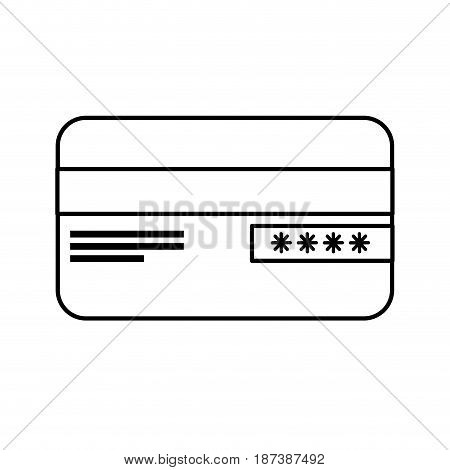 line credit card financial and security transaction, vector illustration
