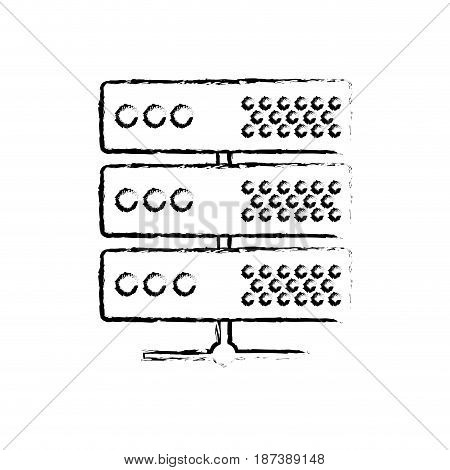 figure digital router to connect data center, vector illustrationdigita router to connect data center, vector illustration