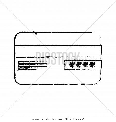 figure credit card financial and security transaction, vector illustration