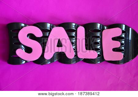 word sale on a vcabstract colorful background