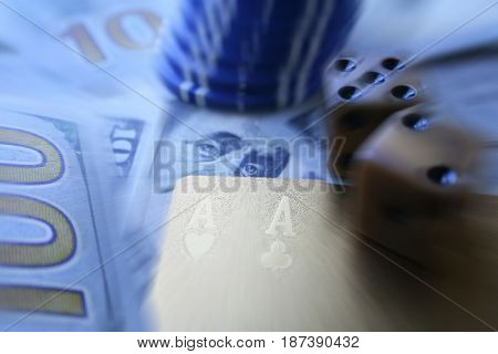 Poker Zoom Burst High Quality Stock Photo High Quality