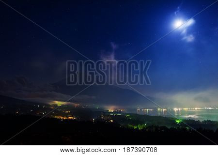 Fuji Panoramadai Viewpoint At Night