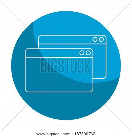 sticker digital windows website data information, vector illustration