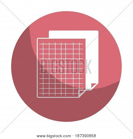 sticker grid sheet to study and write activities, vector illustration