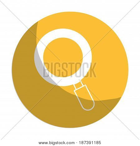 sticker magnifying glass tool to search and read, vector illustration