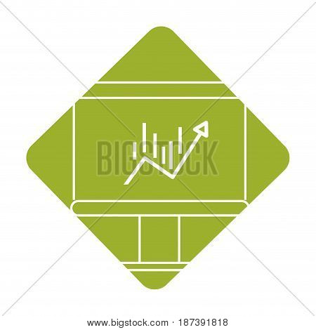 label board with statistic arrow up to financial business, vector illustration