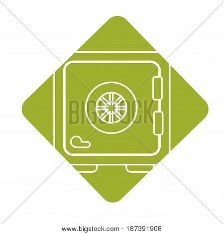 label strongbox close to security of special thing, vector illustration