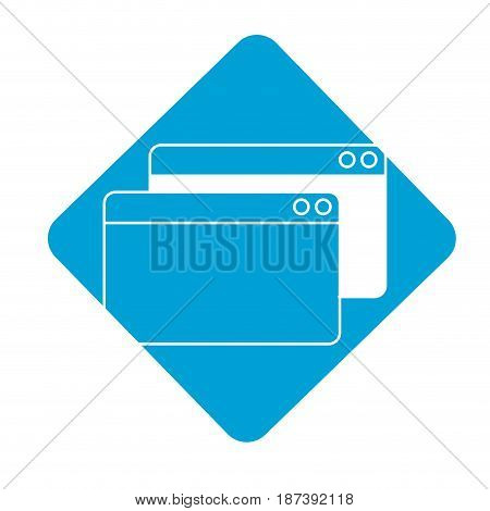 label digital windows website data information, vector illustration