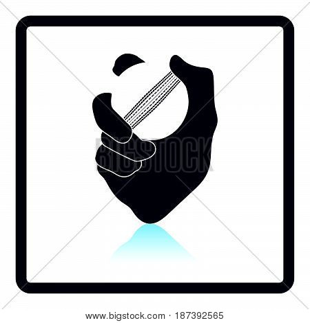 Hand Holding Cricket Ball Icon
