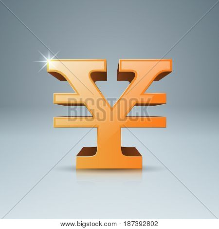 3D infographic design template and marketing icons. Yen, Money icon.