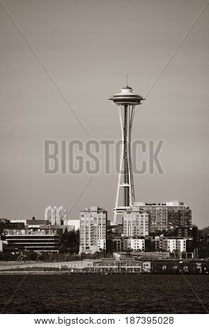 SEATTLE, WA - AUG 14: Space Needle at sunrise on August 14, 2015 in Seattle. Seattle is the largest city in both the State of Washington and the Pacific Northwest region of North America