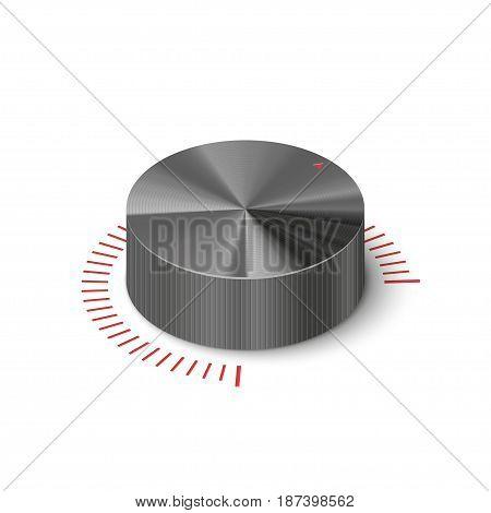 3D metallic volume regulator. Isometric vector illustration.