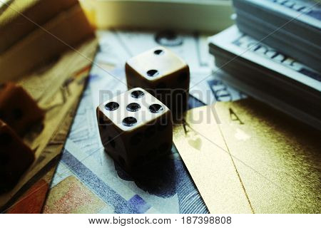 Poker Dice Close Up High Quality Stock Photo