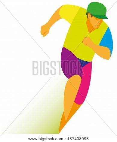 A young baseball player is a Pitcher runner who run to his base