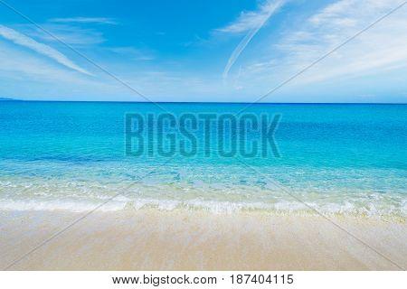 Fiume Santo shoreline in spring in Sardinia