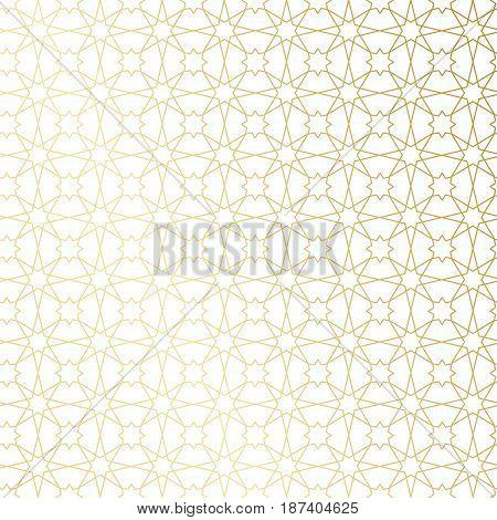 Ramadan Kareem Gold Greeting Card, Banner, Seamless Pattern. Vector Arabic Ornate Geometric Shining