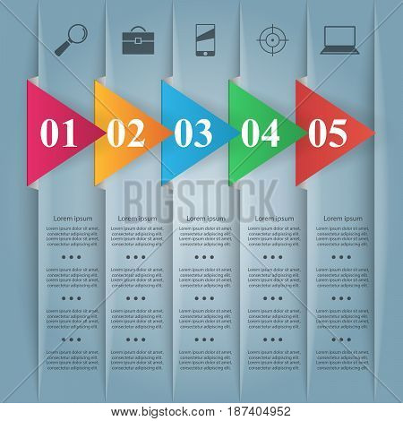 Business paper Infographics origami style Vector illustration.