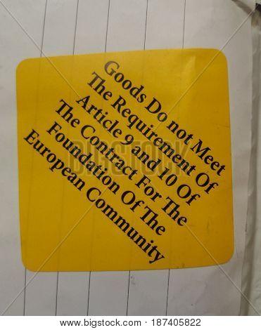 Custom Label On Parcel