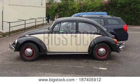Black And Off White Volkswagen Beetle Car In Prague