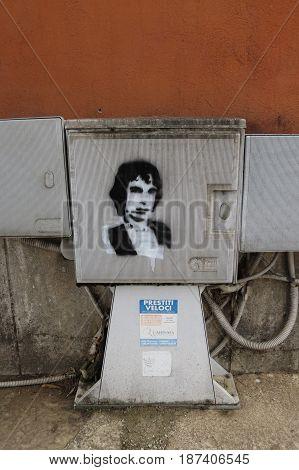 Rino Gaetano Stencil
