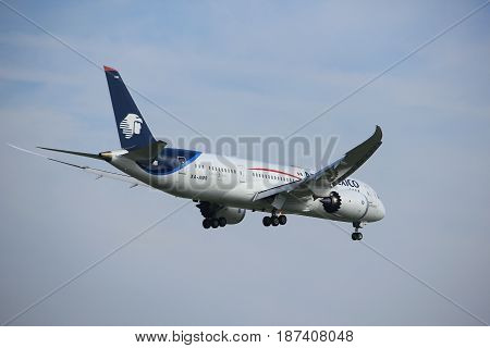 Amsterdam the Netherlands - July 21st 2016:XA-AMR Aerom