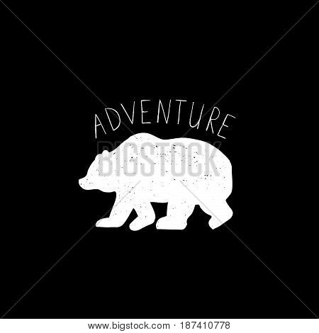 Tribal illustration Adventure with wild forest Bear