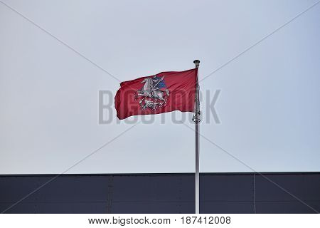 Georgy Victorious Flag In The Wind, Moscow