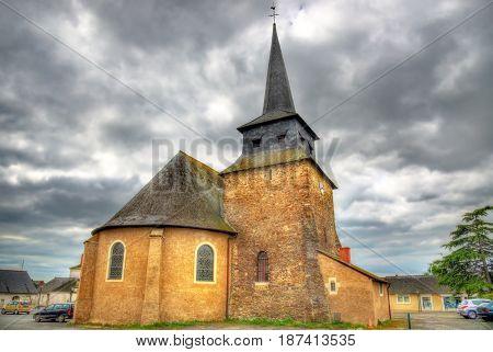 Saint Pierre Church in Champtoce-sur-Loire - France, Maine-et-Loire