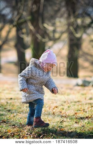 Portrait of a little girl in nature