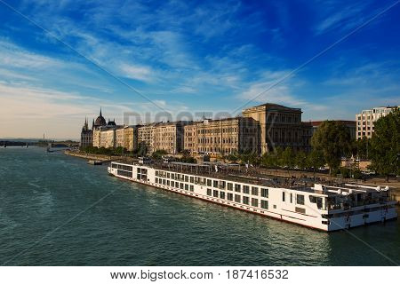 The embankment of the river Danube in Budapest, Hungary