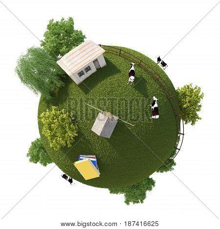 3D Planet Farm (  version 01 )