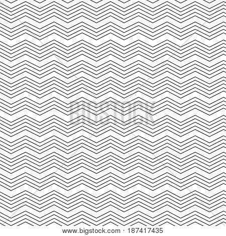 Geometric zig zag seamless pattern.Fashion graphic design.Vector illustration. Optical illusion. Modern stylish abstract texture. Template for print textile wrapping and decoration