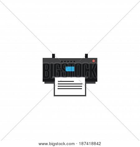 Flat Printing Machine Element. Vector Illustration Of Flat Printer Isolated On Clean Background. Can Be Used As Printer, Machine And Printing Symbols.