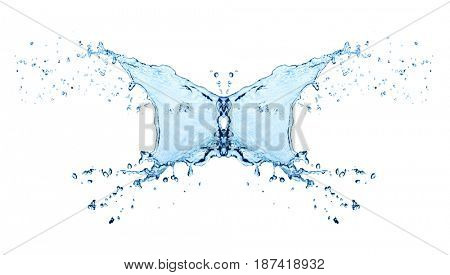 butterfly Water shape bubbles isolated on white
