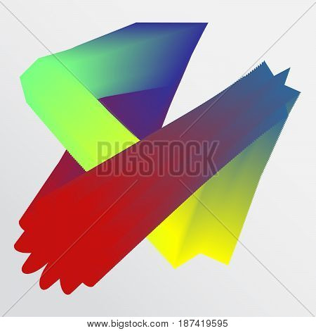 Abstract shapes and colors conversion on the white background.