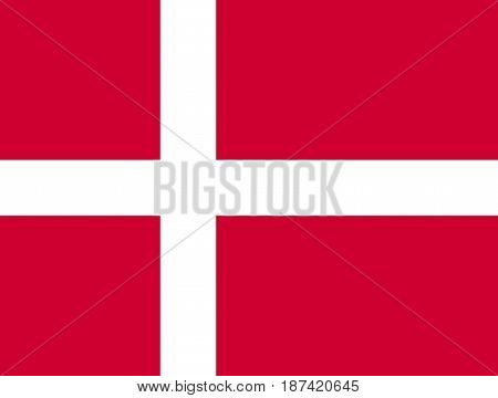 official symbol of the country Denmark flag , vector illustration