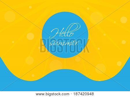 special summer holiday background, vector design eps10