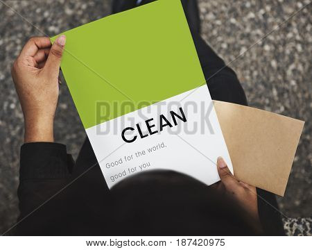 Hands holding network connection graphic overlay notepad