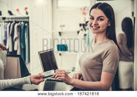 Beautiful Shop Assistant