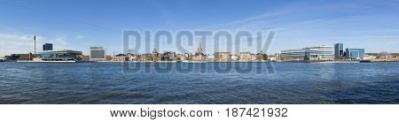 Panoramic view of the waterfront of Aarhus, Denmark