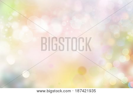 Colorful blurred circles abstract background. Copy space