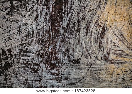 Texture Of Old Rusty Painted Iron