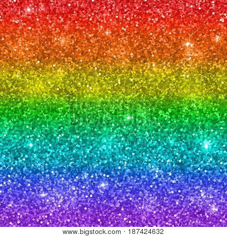 Multicolor glitter background, rainbow colors. Vector illustration