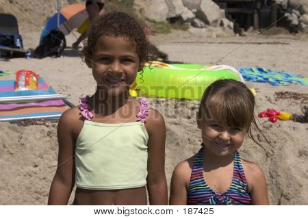 Pretty Girls At The Beach.