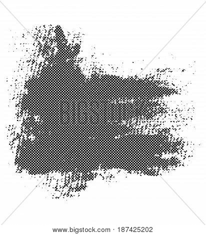 Black BLOB with halftone texture. Vector design element