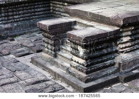 Steps in the Angkor Wat temple
